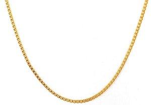 Men # 39s Box Chain Necklace Golden Color Catena in acciaio inossidabile 24quot Accessori maschili Gioielli