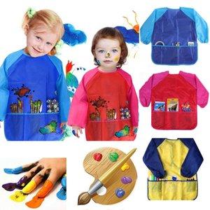 Impermeabile unisex Art Grembiuli grembiule di nylon a maniche lunghe bambini Pittura shirt Vernice Grembiule Ragazza Ragazzo scuola di pittura di accessori