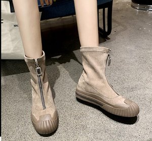 Martin Boots Female New Front Zipper Single spring Boots Women Ankle Boots for Women autumn