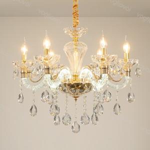 Lampadari di cristallo Europa K9 appeso 30 cm E14 Light Emitting Lampada Braccio ARM Home Lighting Apparecchio Sospensione Droplight Living Dining DHL