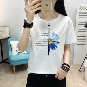 GGRIGHT Vintage Letter Printed Tshirt Women Summer Loose Basic Tees Women O-Neck Cotton Korean Tops Tee Shirt Female T-shirt