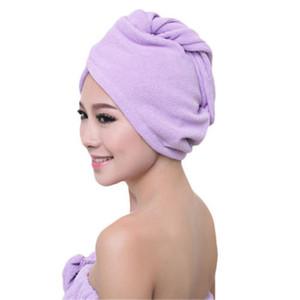 Mais novo microfibra após o banho de cabelo envoltório de secagem das mulheres meninas senhora toalha de secagem rápida chapéu cap cabeça turbante envoltório cabeça de banho ferramentas dhh076