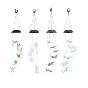 Accessori per la casa solare Farfalla lampada Led Hummingbird luce Wind Chimes della lampada chiara impermeabile Eco -Friendly Wind Chimes casa Garden Decor partito