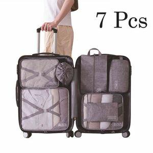 Faroot New 7PCS llegada de embalaje cubos de guarda equipaje organizador de viajes compresión Maleta Bolsas organizadores colgantes