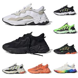2019 3M светоотражающие raf simons ozweego тройной белый черный luxurr мужские женские повседневные туфли Halloween Tones Солнечный Зеленый Гордость Maxes Размер 36-45