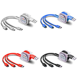 Retráctil multi DHL cable de carga USB Micro USB Tipo C de cable para Samsung Galaxy A30 A50 A70 M30 teléfono celular cargador múltiple Cabel