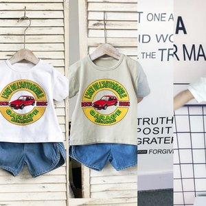 Ezo8a Children's short-sleeved men women children's cotton cotton T-shirt summer half sleeves T-SHIRT zhong xiao tong printed plain round-ne