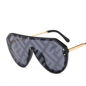 2019 sunglasses Oversized Sunglasses womens sunglasses Siamese personality colorful fashion match cool sun glasses 13 color