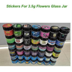 3.5g Цветы Glass Jar этикетки Печенье Honey Bun Блины Помело Бланко джунглей мальчиков runtz Наклейки Sharklato stikcers для 1G Shatter Glass Jar