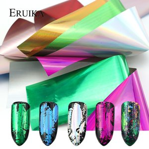 Art Stickers Stickers 7pcs / Rainbow Set Color Mix Nail Sticker Foils Holo adhésif Designs Transfert Glitter Gel Polish accessoires Nail ...