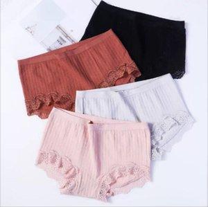 Calcinhas Mulheres Lace Elastic Briefs Senhora Sexy Calcinha Modal Calças Hipster Macio Panty Thong Moda Sólidos Cuecas Underwear Mulheres B5005