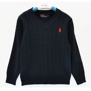 Marca de moda crianças Camisola roupas de bebê de Alta Qualidade Primavera / outono Escola Meninos E Meninas Crianças POLO outerwear Camisolas