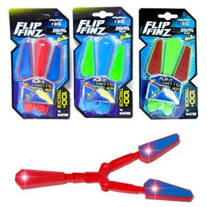 Mão Levou Fidget Flip Finz Apaziguador do esforço Acender Borboleta Flipper Novidade Brinquedo Tducational Brinquedo