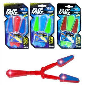 Led mano Fidget Flip Finz Stress Reliever Light Up Butterfly Flipper Novedad Juguete Juguete educativo