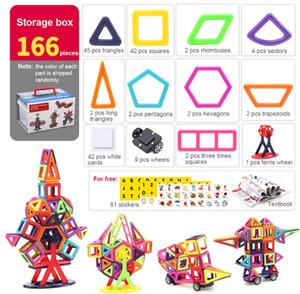 Giocattolo educativo della costruzione dei bambini del blocco degli insiemi delle mattonelle della costruzione magnetica 40PCS / 64PCS / 113PCS / 145PCS / 166PCS 3D, trasporto libero!