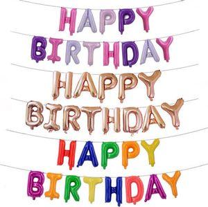 Happy Birthday balloons lettera alluminio palloncini rivestimento in oro rosa bambini stagnola palloncini matrimonio compleanno decorazione del partito