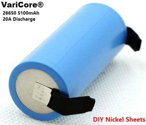 3 PCS VariCore 26650 5100 ماه ليثيوم أيون قابلة للشحن بطارية 3.7 فولت 20A Décharge 3.6 البطاريات V PUISSANCE + فوي DIY النيكل