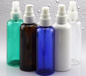 Taşınabilir Makyaj Up için Toptan 100ml Beyaz PET Boş Losyon Konteynerleri Şişeler Şampuan Krem Küçük Pompa Cap Vial
