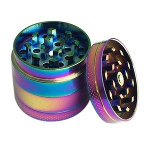 Rainbow Molinillos de hierba 40mm 4 Capas Modelo colorido amoladora de fumar cigarrillo trituradora accesorios de fumar 20pcs OOA7253