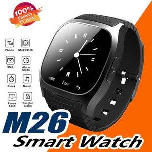 M26 smartwatch Wirelss Bluetooth Akıllı Seyretmek Telefon Bilezik Kamera Uzaktan Kumanda IOS Android için Anti-kayıp alarm Barometre V8 A1 X6 izle