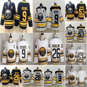 골든 50 시즌 3 위 53 Jeff Skinner Buffalo Sabers 9 Jack Eichel 21 Kyle Okposo 26 Rasmus Dahlin 23 Sam Reinhart Hockey Jerseys