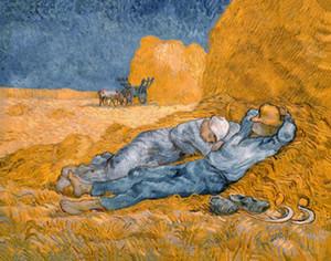 Vincent Van Gogh Peinture à l'huile sur toile Noon: repos du travail (1890) Décoration intérieure Artisanats / HD Imprimer Wall Art Toile Photos 191028