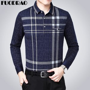 New Brand Spring Long sleeve Shirt Men Plaid Homme Business Camisa Masculino Casual Men Tee Shirts B046