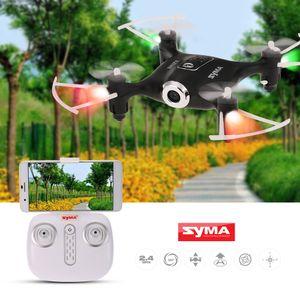 Original Syma X21W Mini Drone Wifi FPV 720P Camera Barómetro Set Altura RC Drone Remoto Toy Controle