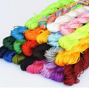 Nylon Cords 1.5mm Shamballa Macrame Rattail Braided Knot Beading Thread String Craft DIY Jewelry Findings For Necklace Bracelet Making