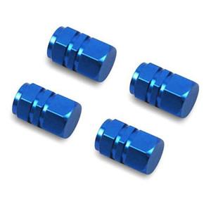 4pcs universel en aluminium de pneu de voiture Air bouchons de valve de pneu de bicyclette Valve Cap roue de voiture Styling Ronde Rouge Noir Bleu Argent Or