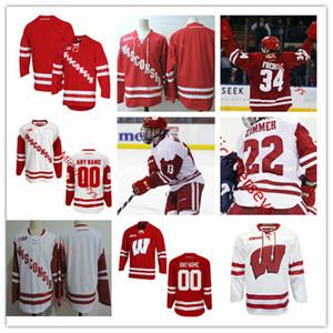 Custom Wisconsin Badgers Hokeyi Jersey 8 Cole Caufield 15 Alex Turcotte 24 Sean Dhooghe 2 Wyatt Kalynuk 16 Tarek Baker Wisconsin Jersey