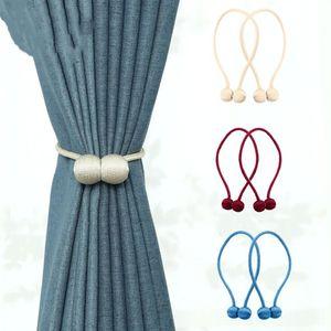 Manyetik Perde Bağları Cowhells Mıknatıs fastens Perde Kayış Manyetik Perdeler Toka Pencere Eleme Topu Klip Tutucu Perde Kancalar YP380