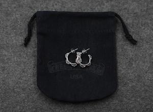 S925 стерлингов серебряные серьги личности ретро минималистский классический стиль половину круга панк моды отправить подарок любовника 2020