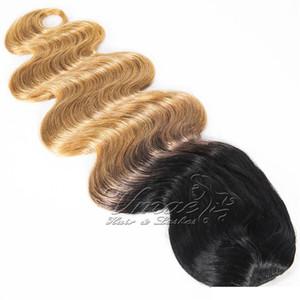 Brazilian Two Tom Loira Ombre Cor 12 a 26 polegadas # 1B / 27 120g de onda corporal cordão cordão rochoso virgem extensão de cabelo humano