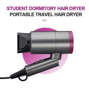 1200W Mini Pliable Sèche-cheveux Ventilateur Voyage électrodomestiques cheveux Séchoir vent chaud à faible bruit Sèche-cheveux UE AC 110-220V US Plug