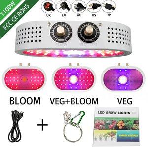 1100W led grow lumière 85-265V Double commutateur Dimmable Full Spectrum grandir lampes Tente de semis intérieur fleur à effet de serre fitolamp lampe végétale