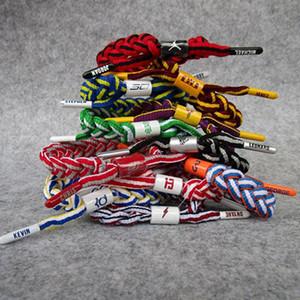 Basketball Star Braided Weave Bracelet Fashion Men Sports Bangle Couples Wristband Bracelets Shoelace Souvenirs Fans Gift TTA1165