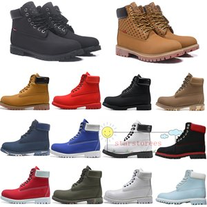 Botas 6 pulgadas zapatos impermeables zapatos de diseño corrientes de los deportes zapatillas de deporte de la motocicleta Hombres Mujeres Negro Amarillo Rojo Blanco Montañismo 1 Trainer
