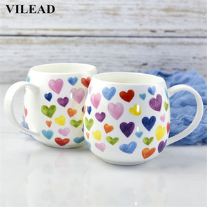 380ml de cerâmica bonito Belly Coração Caneca dos desenhos animados Bone China Cups Caneca do leite porcelana Afternoon Tea Cup Escritório Copos para Lady Lassock