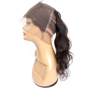 cor natural 360 lace cabelo frontal corpo reto profunda água Kinky culry dianteira do laço virgem humana brasileira de 10 a 20 polegadas