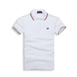 Новый 2019 Дизайнер Рубашки Поло Мужчины Роскошные Поло Повседневная Мужская Рубашка Поло Мода Дышащий Полосатый Письмо Печати Модный Бренд Мужская Рубашка