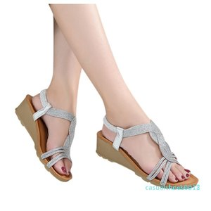 Roman Sandals Stapy Shoes Wedges Summer Flip Flops Women's Ladies Fashion Girls Comfortable Wedges Thick Casual Sandals Shoes l15