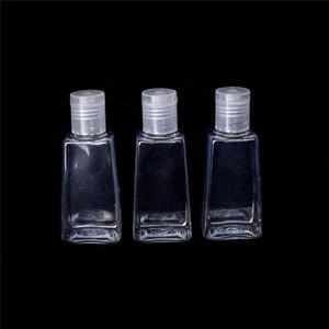 30ML فارغة اليد المطهر زجاجة بلاستيكية الحيوانات الأليفة مع فليب كاب شبه منحرف شكل زجاجة ل ماكياج مزيل مطهر liq