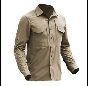 Tactical Gear Quick Dry Militar Camisa de combate Men respirável Army Tactical Shirts Elastic novo tecido Esporte caminhada ao ar livre Shirts