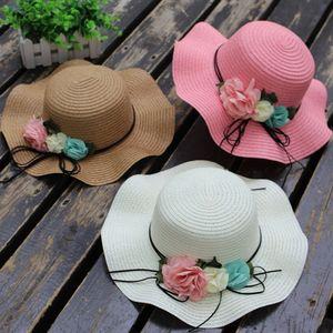 Baby Summer Cute Girls Flower Hats Kids Girl Solid Caps Beauty Girls Hat Newborn Fashion Sun Cap For Beach