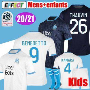 2018 Olympique de Marseille Camisas De Futebol BENEDETTO 2019 Camisa De Futebol PAYET L.GUSTAVO THAUVIN 18 19 Casa Branca Longe Preto Terceiro camisas De Futebol Soccer Jerseys