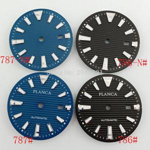 Goutent 34mm 발광 블랙 / 블루 미요 8,215분의 8,205 다이얼 시계 ETA / 2824 (2836), DG2813 시계