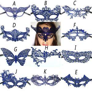 11 Stil Sıcak Satış Seksi Lady Dantel Masquerade Partisi Fantezi Elbise Kostüm Halloween Ball Balo Fantezi 1pcs için Kesim Göz Maskesi