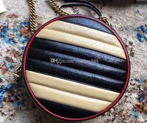 5A Quality 550154 18.5cm Marmonts Mini Round Shoulder Crossbody Bags,Leather Trim,with Dust Bag+Box,DHL Free Shipping