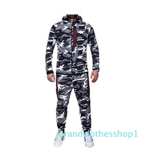 Fashion men's outdoor sports tracksuits popular Camouflage jakcets autumn winter warm keeping tracksuits Asian size M-3XL